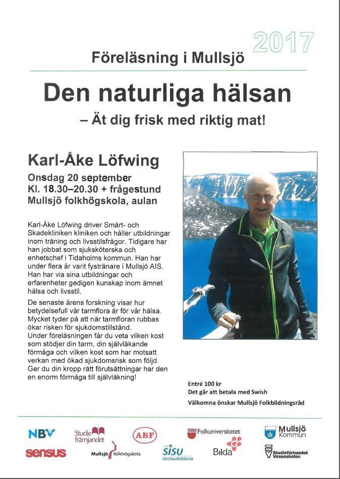 Föreläsning med Karl-Åke Löfwing - Ät dig frisk med riktig mat!
