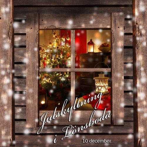 Julskyltning i Lönsboda