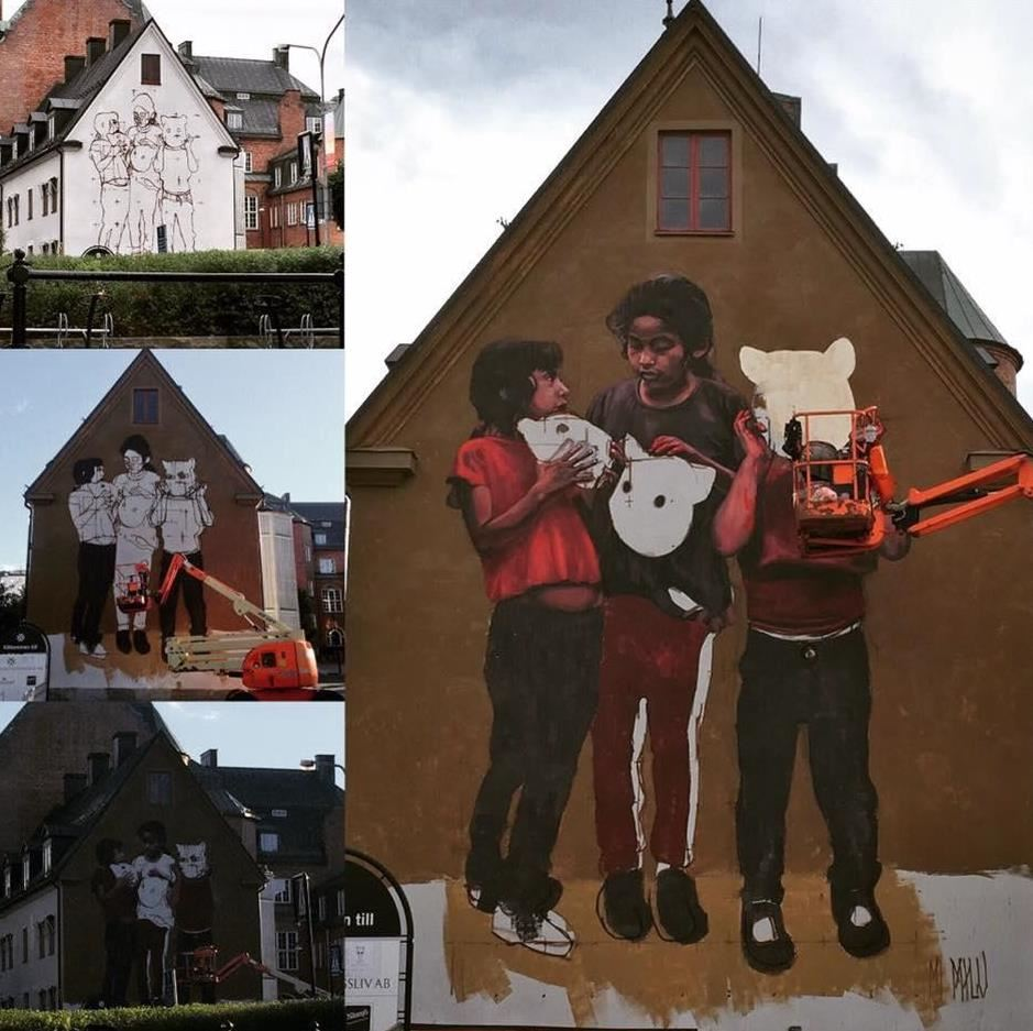 Stadsvandring: Väggmålningar och bandy