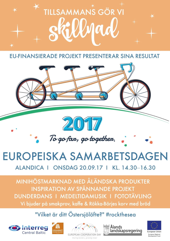 Europeiska samarbetsdagen i Alandica med minihöstmarknad