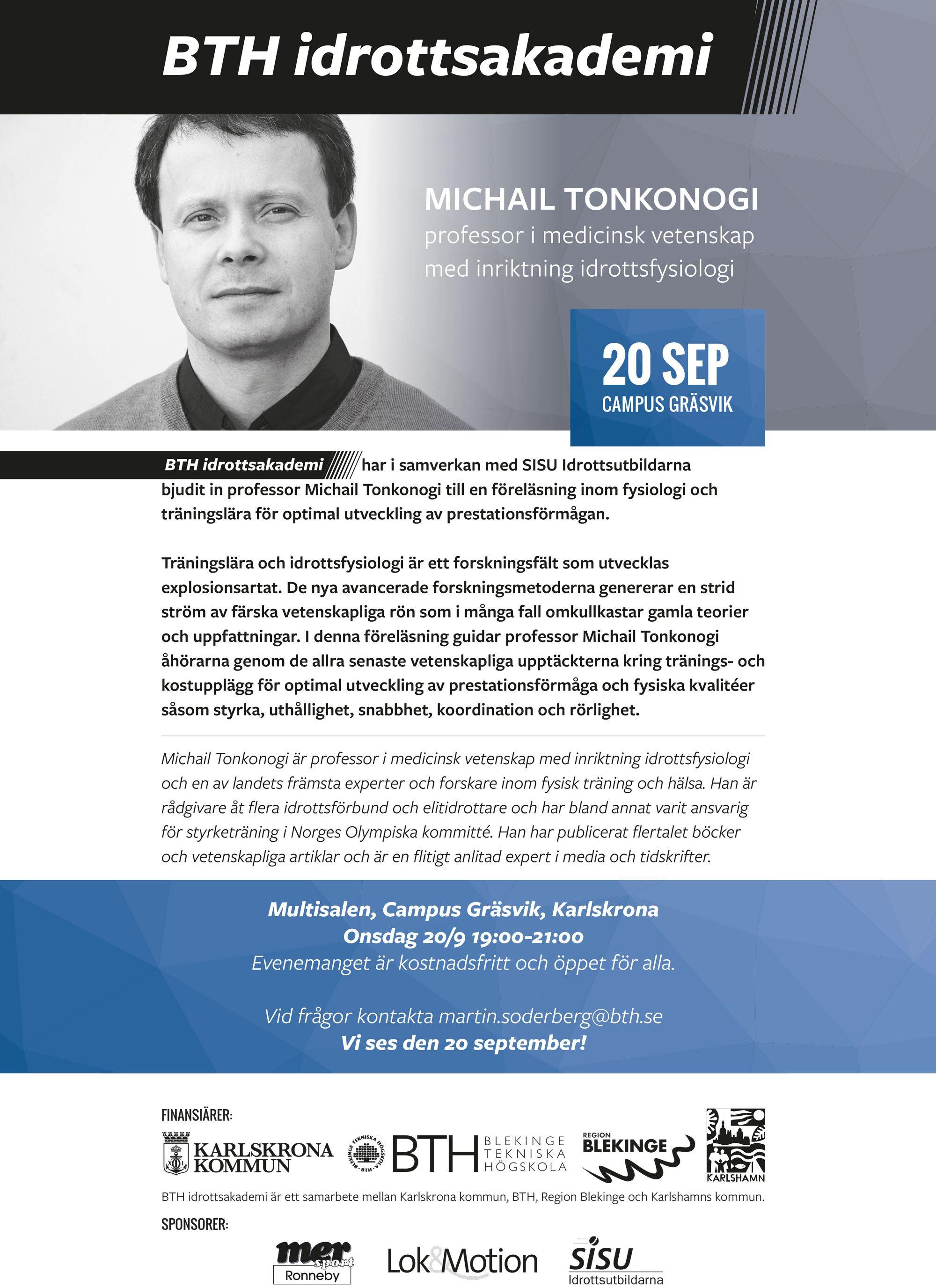 Föreläsning - Michail Tonkonogi Idrottsmedicin