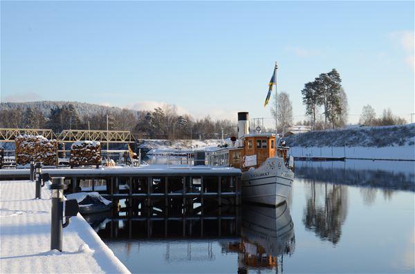 Visit Dalarna, Adventskryssning, båt, vinter, Leksand