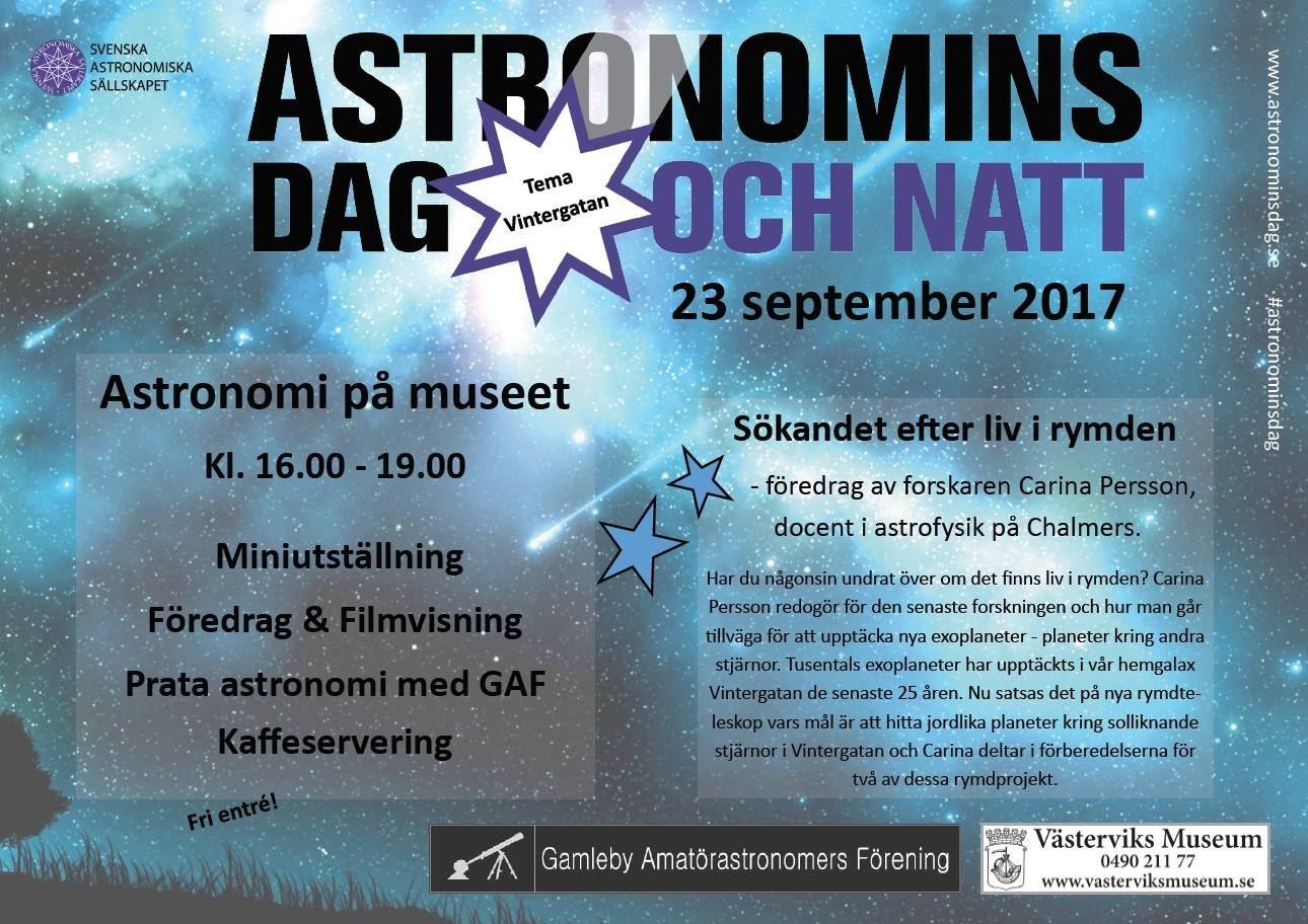 Astronomins dag & natt på Västerviks Museum