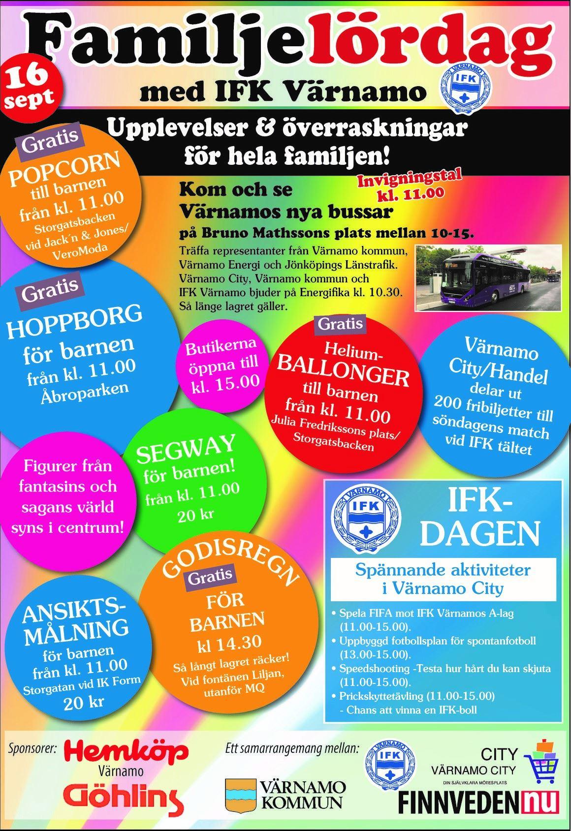 Värnamo city, IFK-dagen och Familjelördag