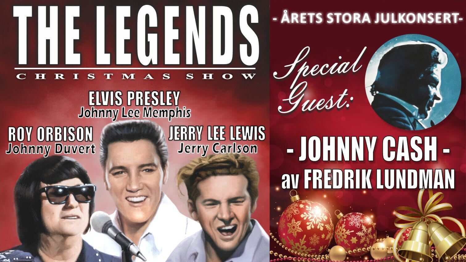 Julkonsert The Legends - Christmas Show
