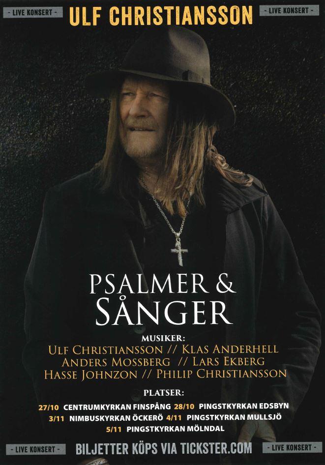"""""""Psalmer och sånger"""" med hårdrockaren Ulf Christiansson m.fl."""