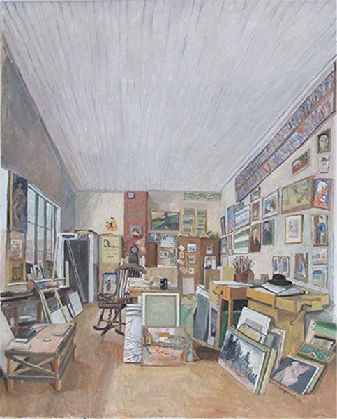 Visning av Sven Ljungbergs ateljé