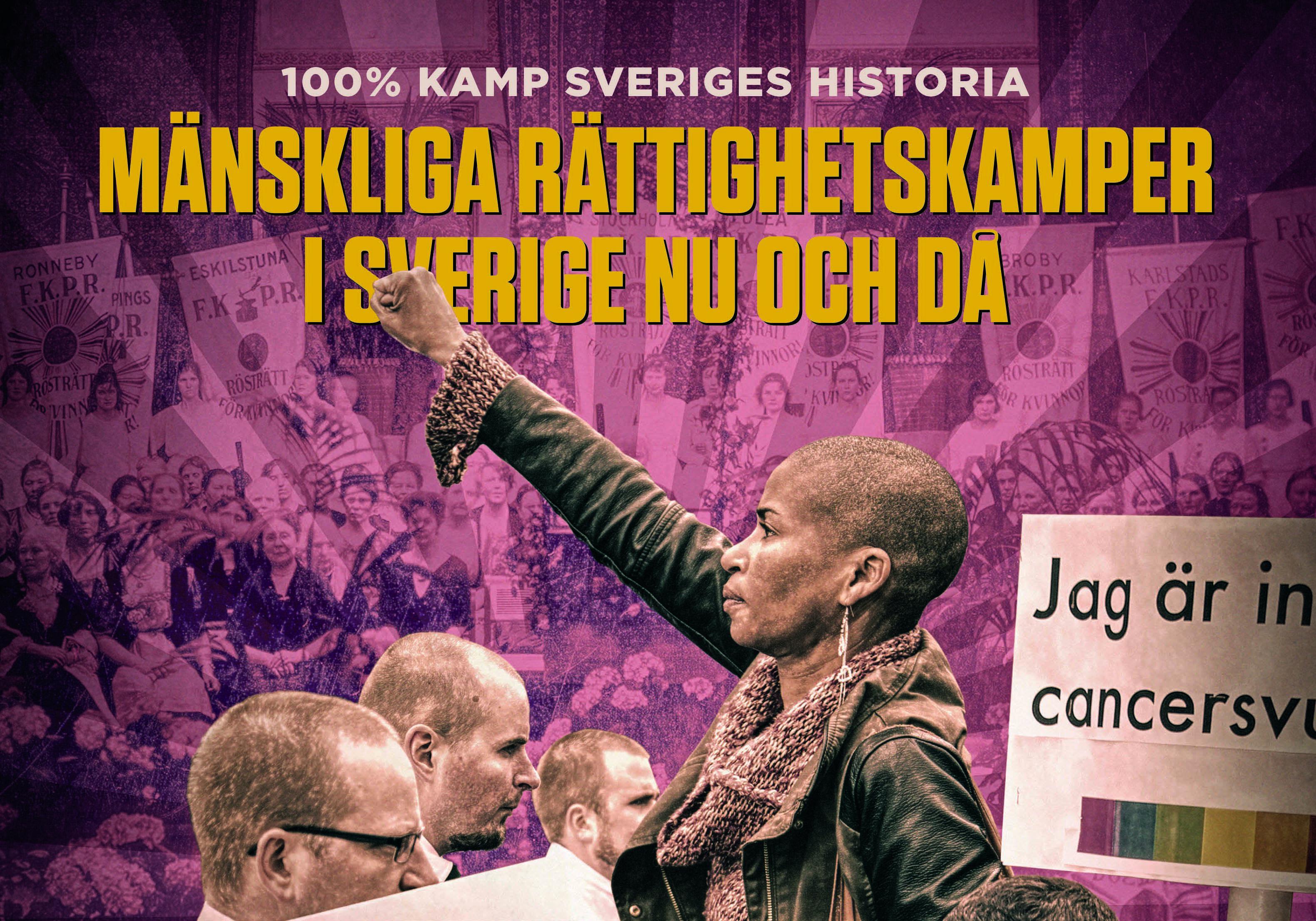 Omslag/Bildkollage: Kristofer Lönnå, 100% Kamp - Sveriges historia
