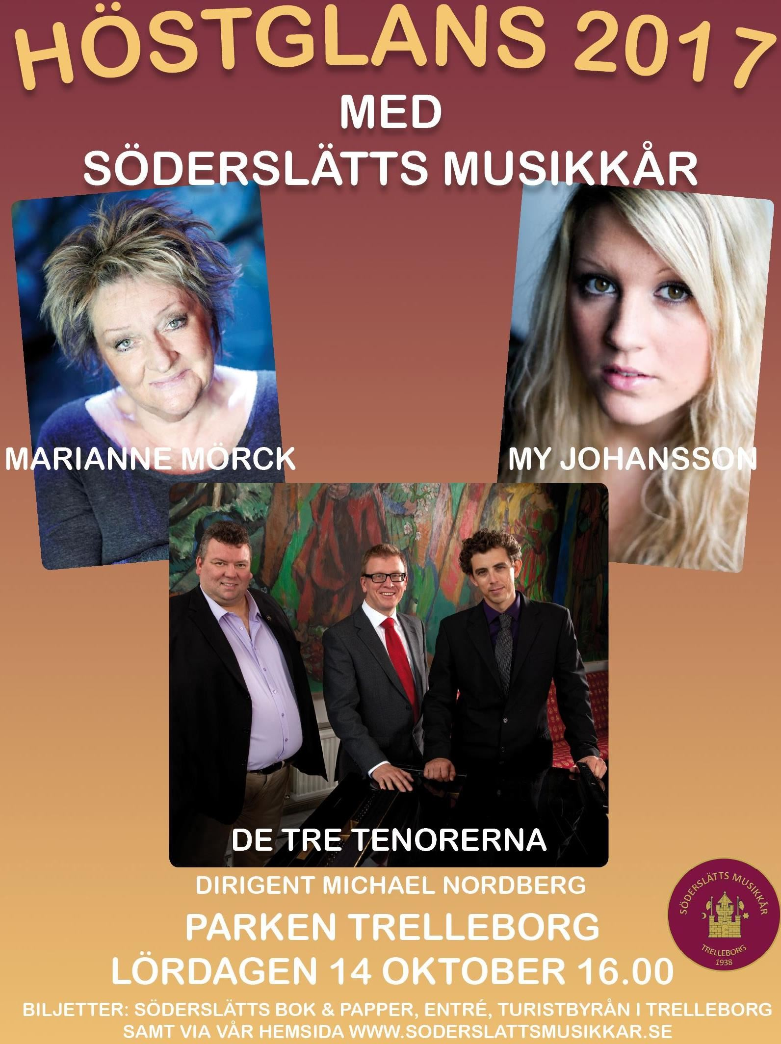 "Concert with the band ""Söderslätts´ Musikkår"" & the three tenors"