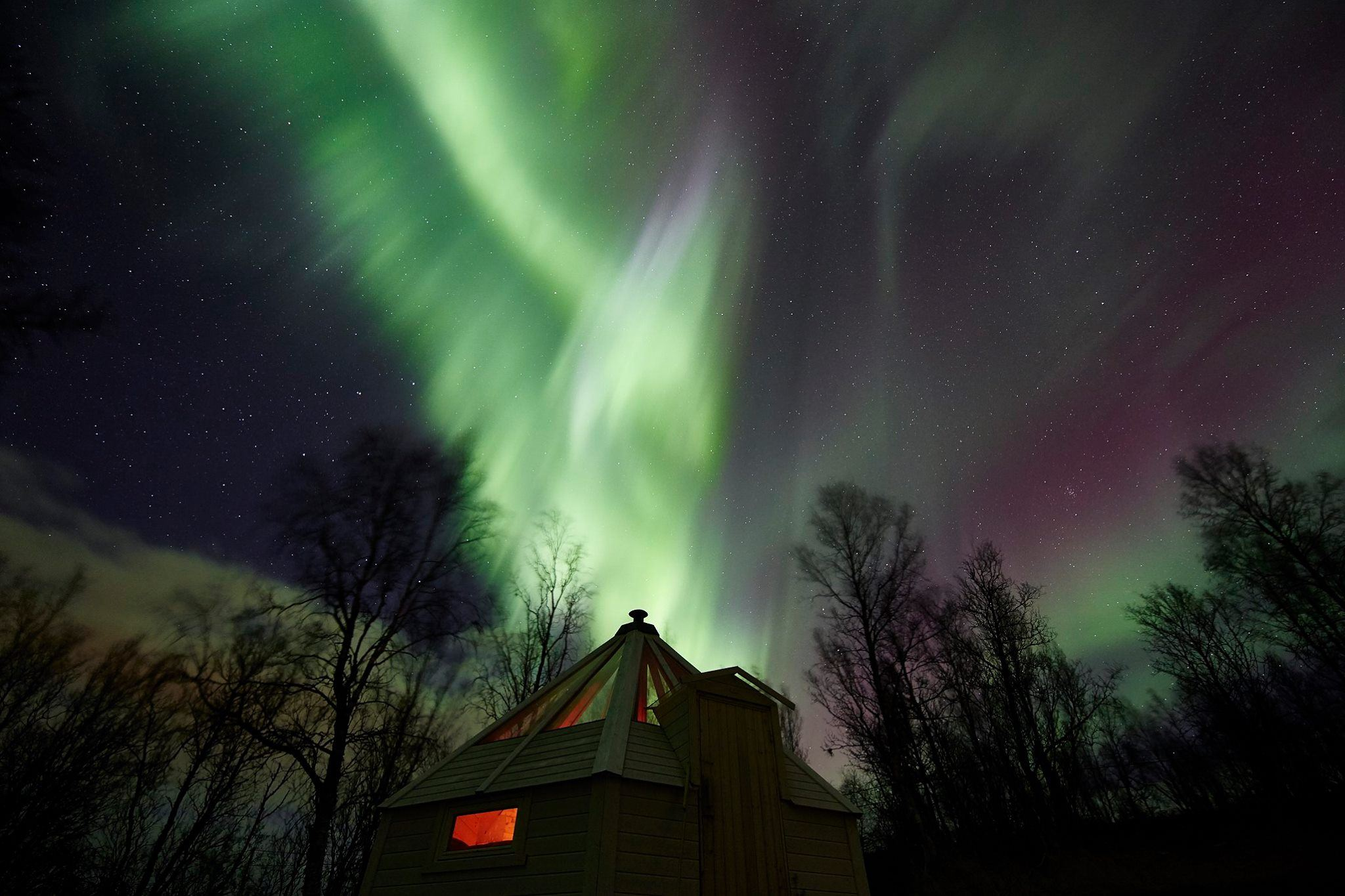 Crystal Lavvo Aurora overnatting - Green Gold of Norway