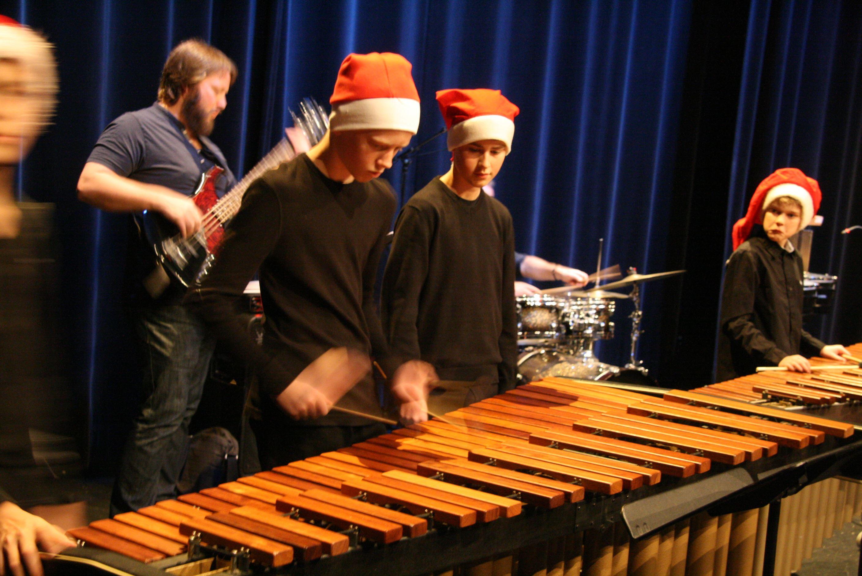 Julkonsert med Kulturskolans slagverksensembler