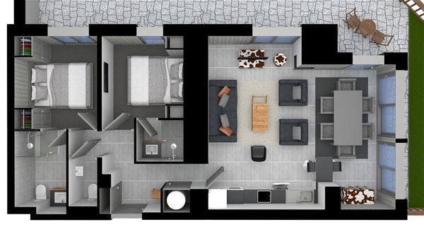 3 rooms 6 people / SALERS (Mountain of Dream)