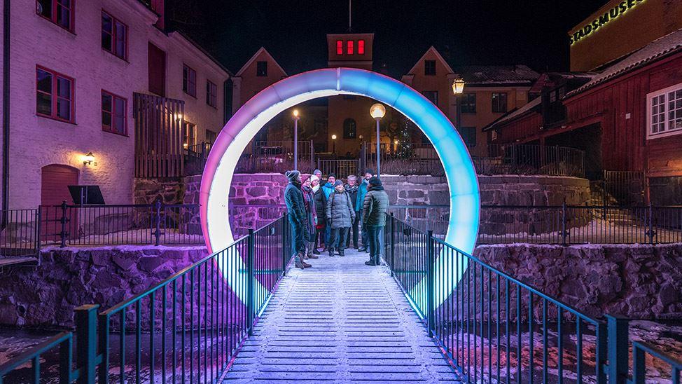 Bli guidad genom Norrköping Light Festival