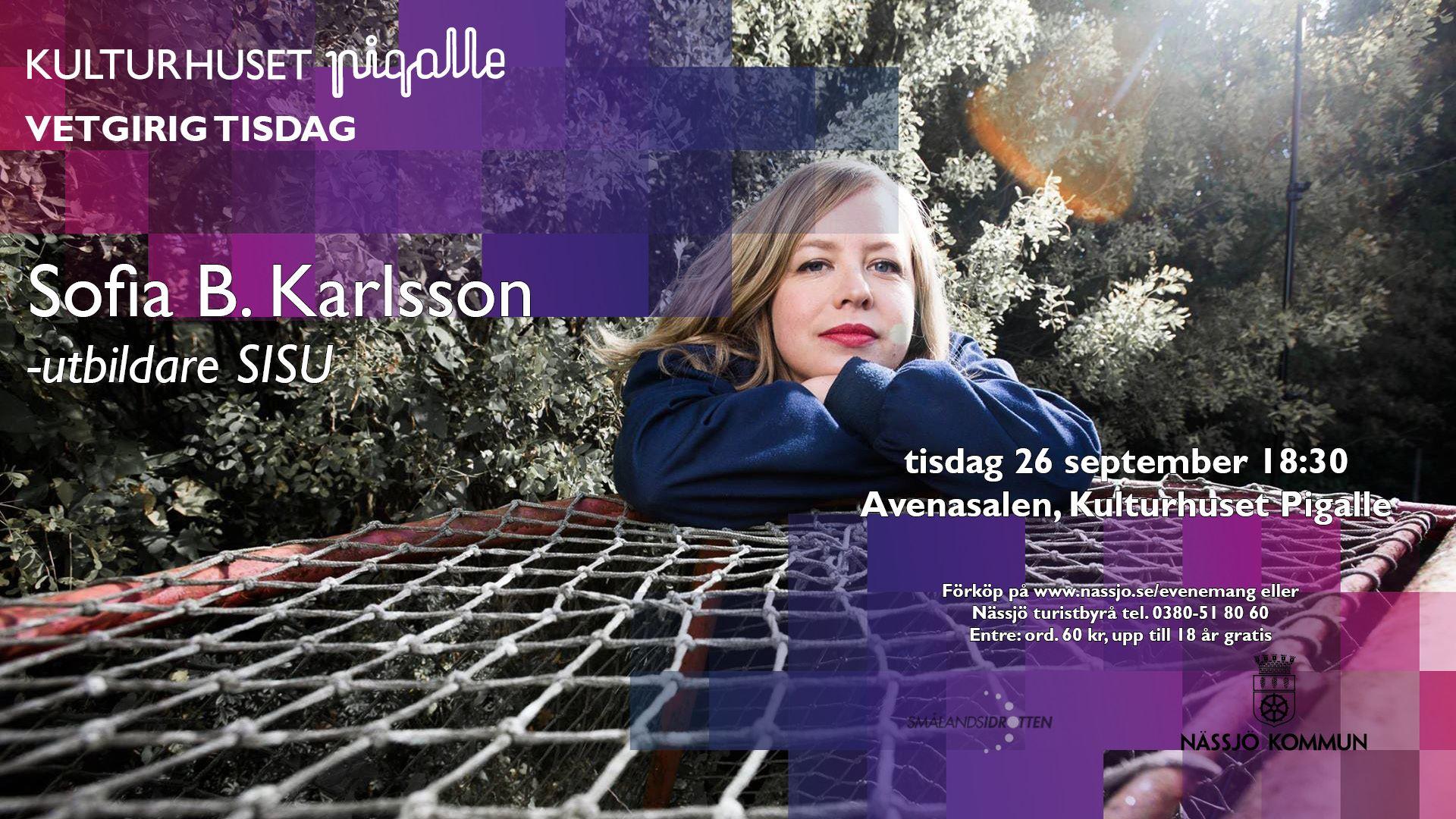 Sofia B. Karlsson, utbildare inom SISU Idrottsutbildarna