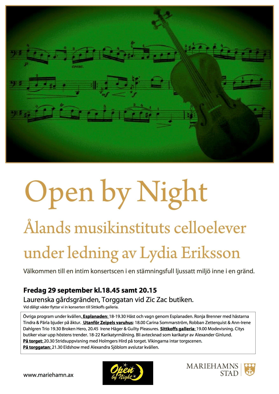 Ålands musikinstituts celloelever under ledning av Lydia Eriksson