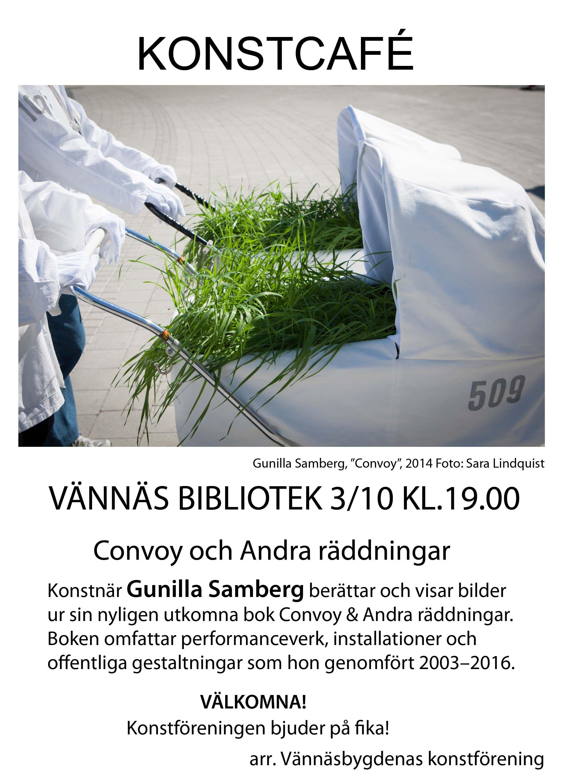 Konstcafé på Vännäs Bibliotek. Convoy och Andra räddningar.