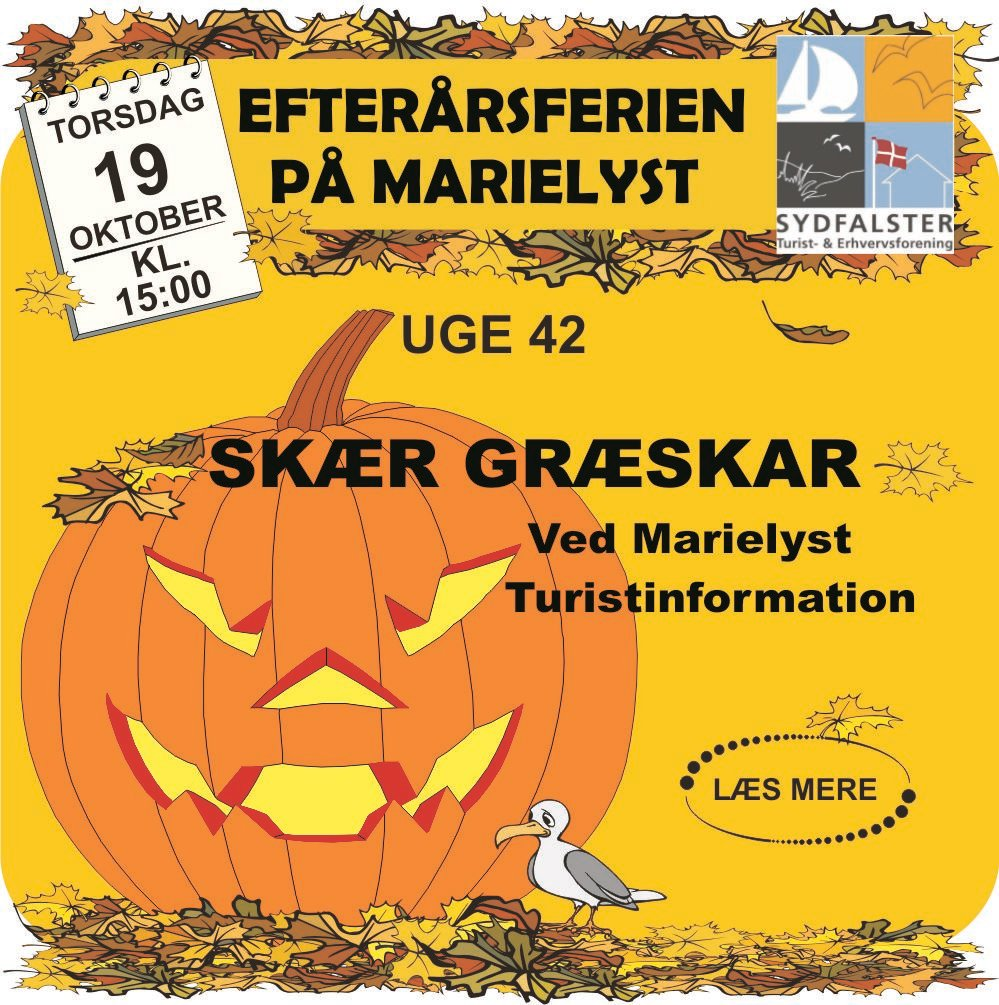 Pumpkin Carving 19th October at Marielyst Tourist Office