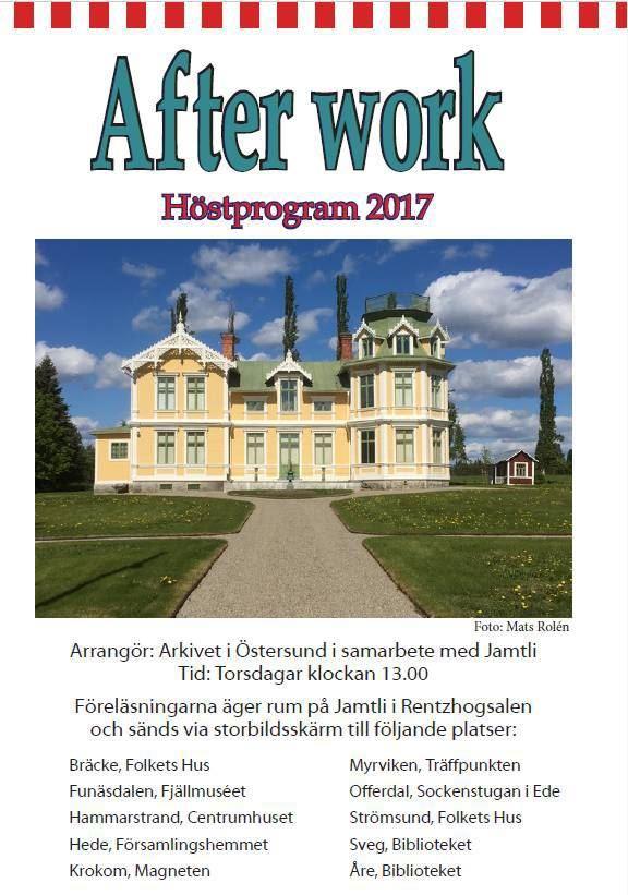 Arkivet Östersund,  © Copyright: Arkivet Östersund, After Work - Arkivet i Östersund