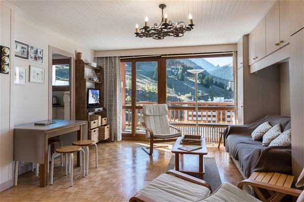 1 studio 4 personnes skis aux pieds / RESIDENCE 1650 27 (Montagne) / Séjour Sérénité