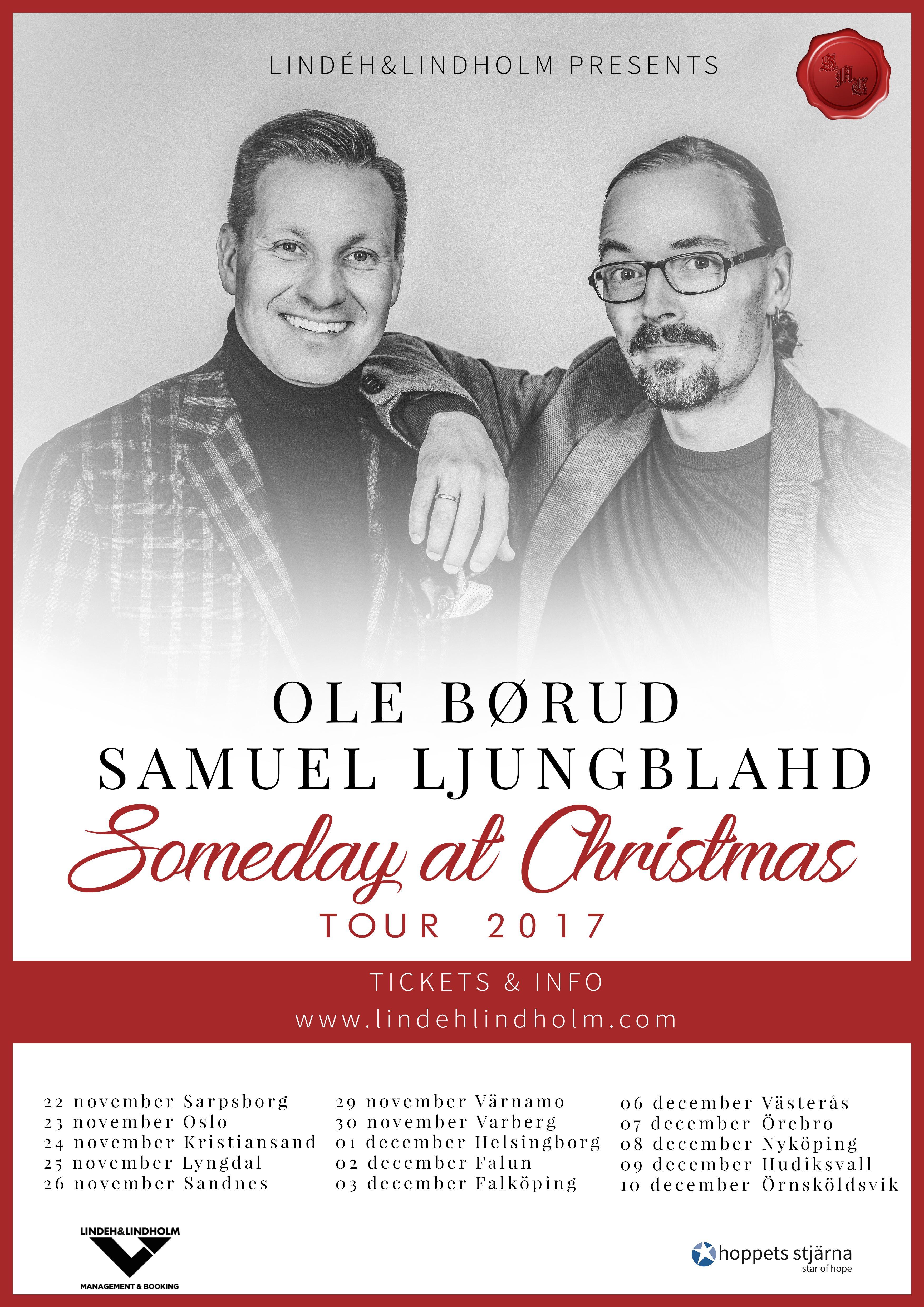"""""""Someday at Christmas"""" - Konsert med Samuel Ljungblahd och Ole Börud"""