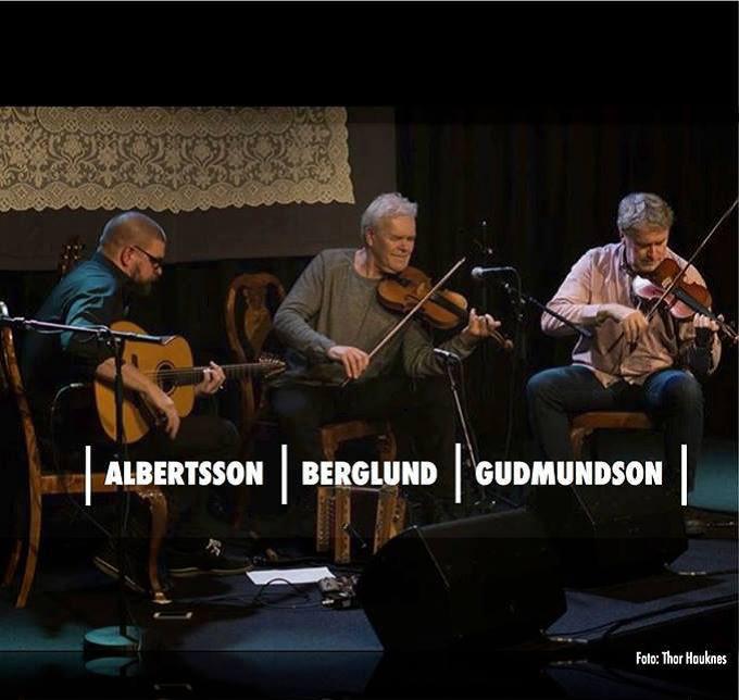 Folkmusik med Albertsson, Berglund och Gudmundsson
