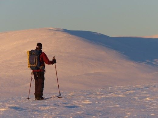 Livallen during wintertime
