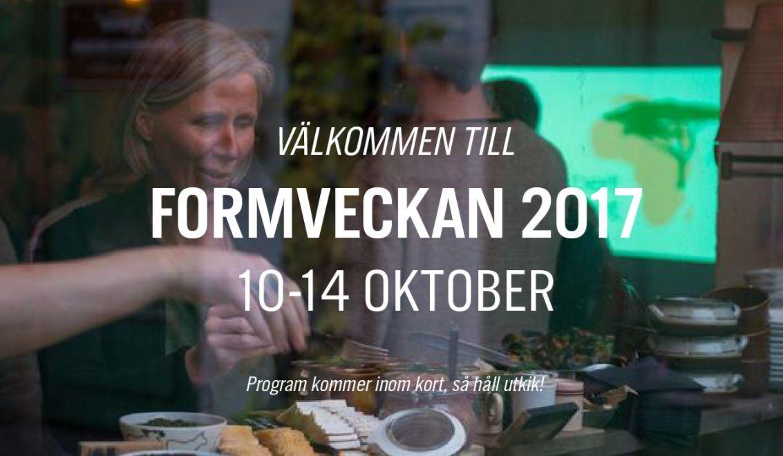 Foto: Formveckan,  © Copy: Formveckan, Formveckan 2017