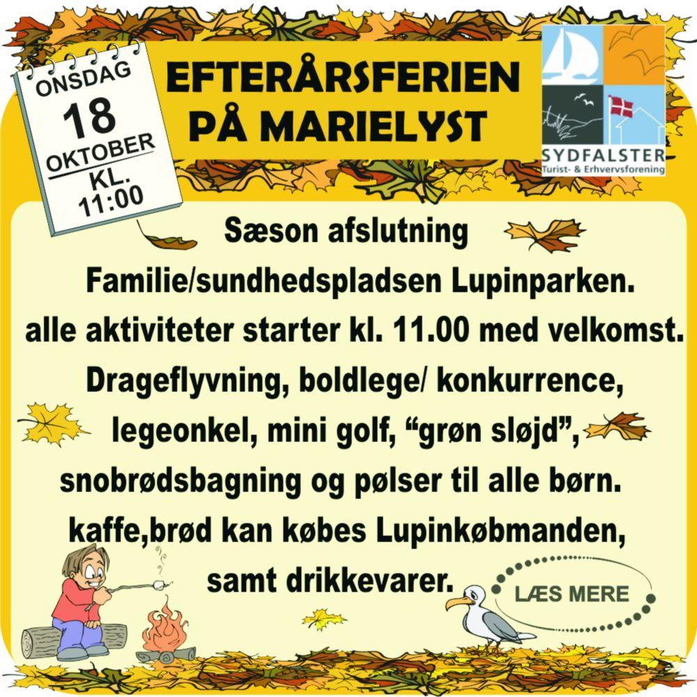 Sæson afslutning Familie- og Sundhedspladsen Lupinparken på Bøtø