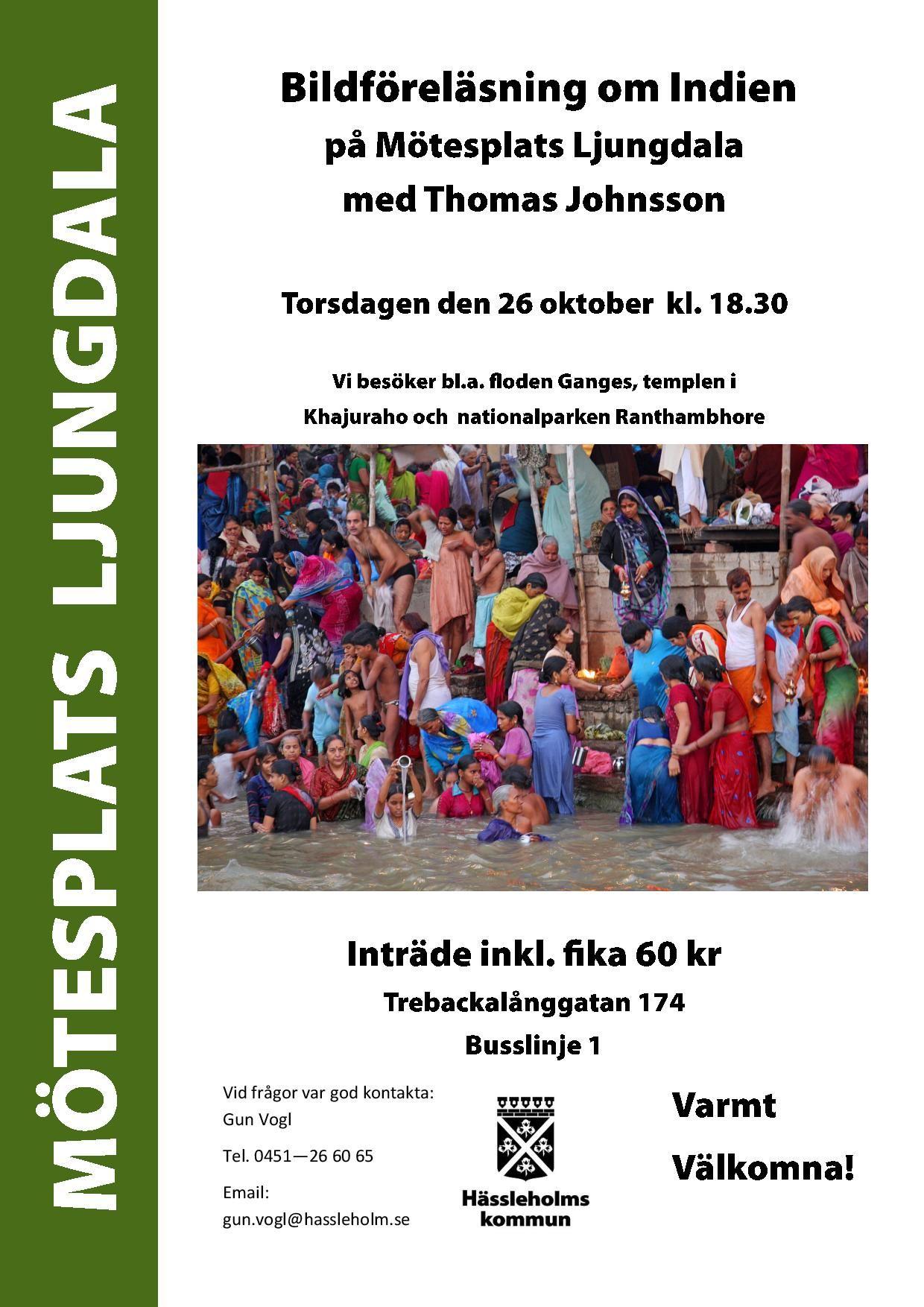 Bildföreläsning om Indien - på Mötesplats Ljungdala med Thomas Johnsson