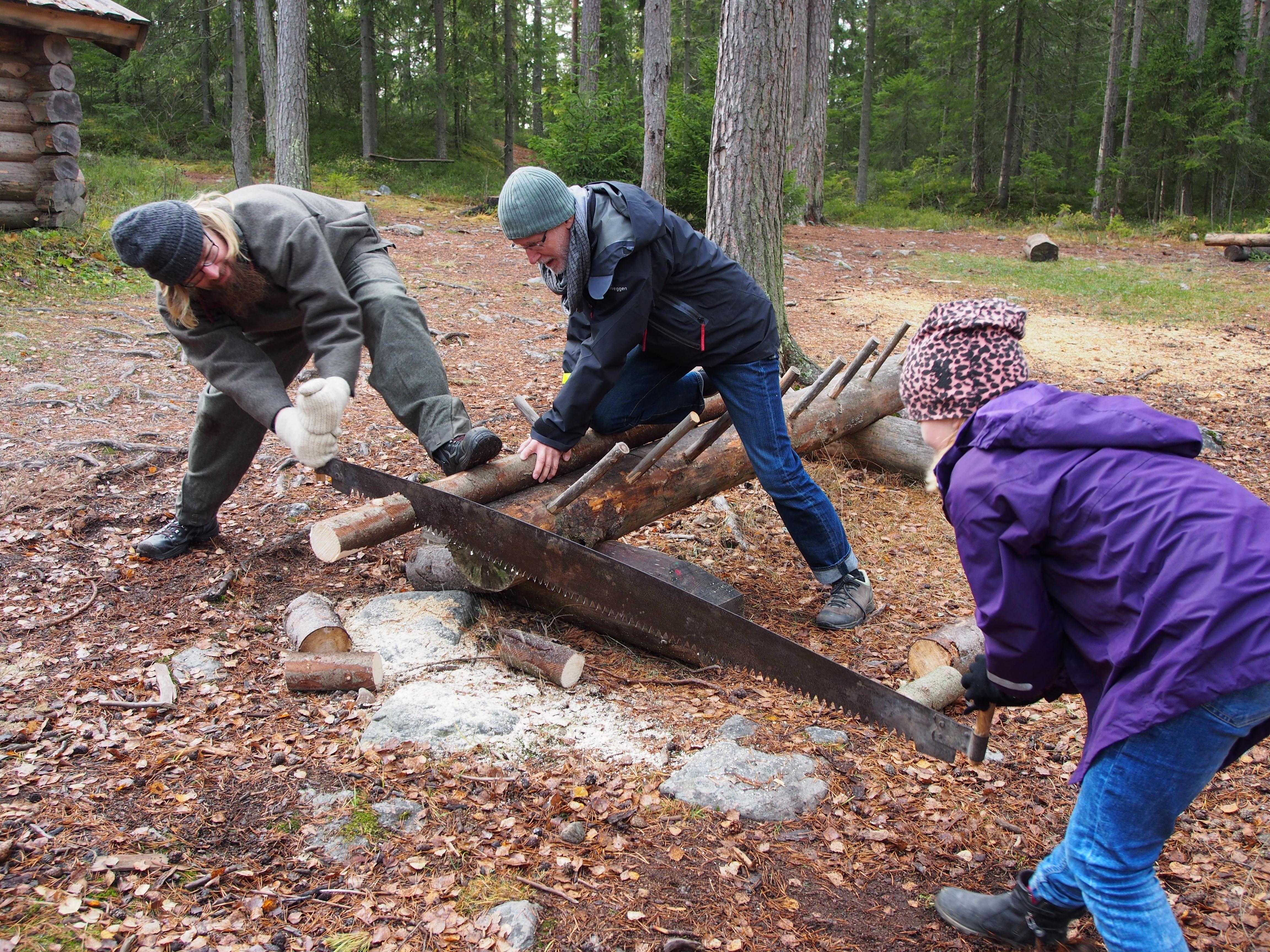 Skogsarbetarliv, Skvadern och gamla leksaker - Höstlov på Norra Berget