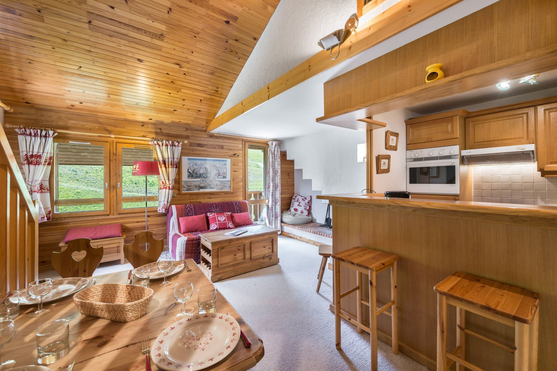 3 rooms 6 people ski-in ski-out / TROIS VALLEES 30 (mountain)