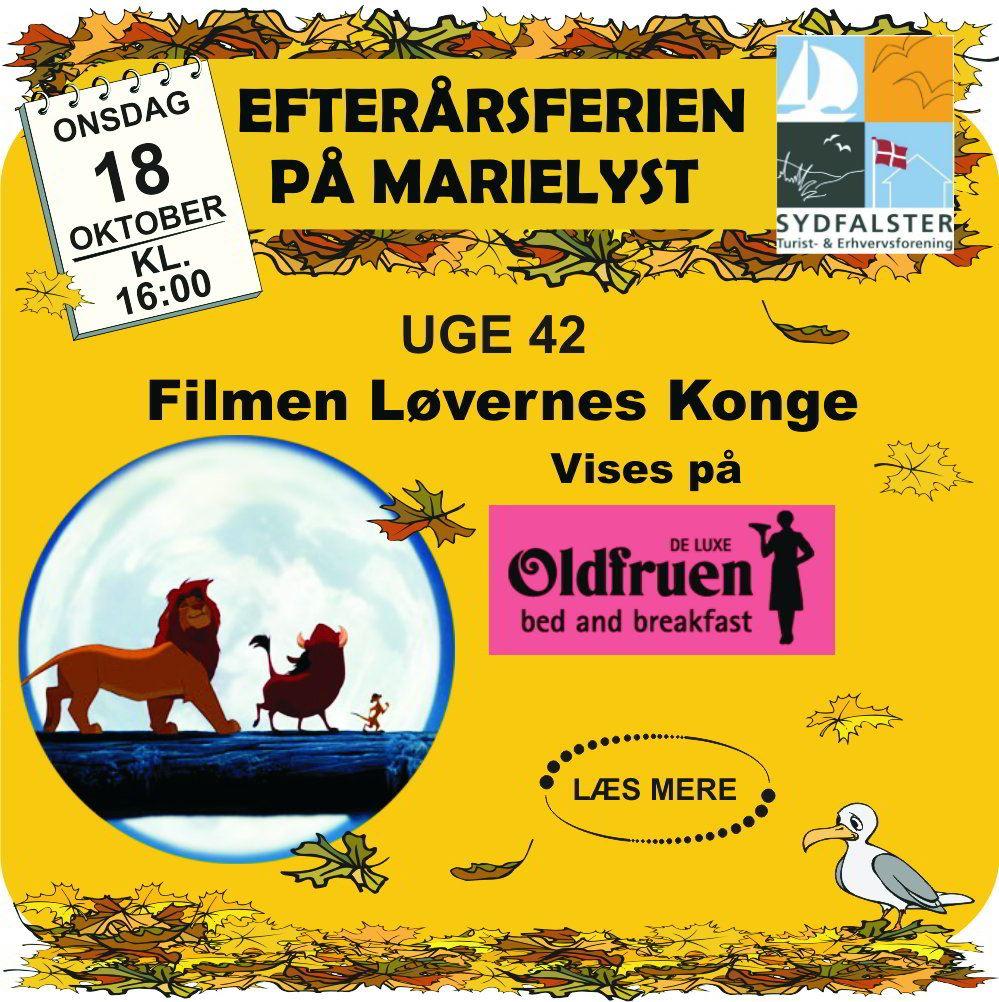 Watch The Lion King at Oldfruen Marielyst