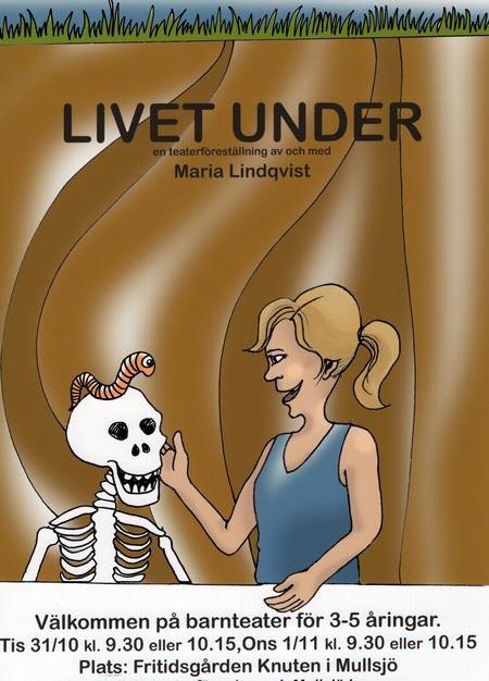 """Barnteater:  """"Livet under""""  - vad händer i underjorden?"""