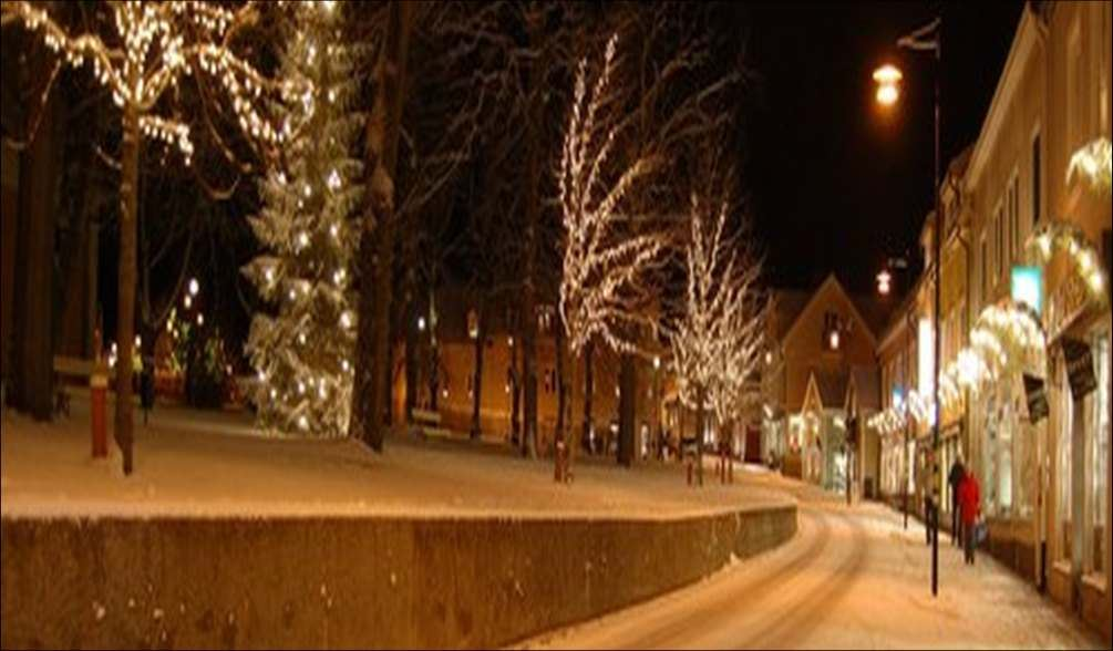Julmarknad i Mönsterås Köping