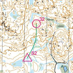 Training Map Åsberget 1:10 000 (FootO)