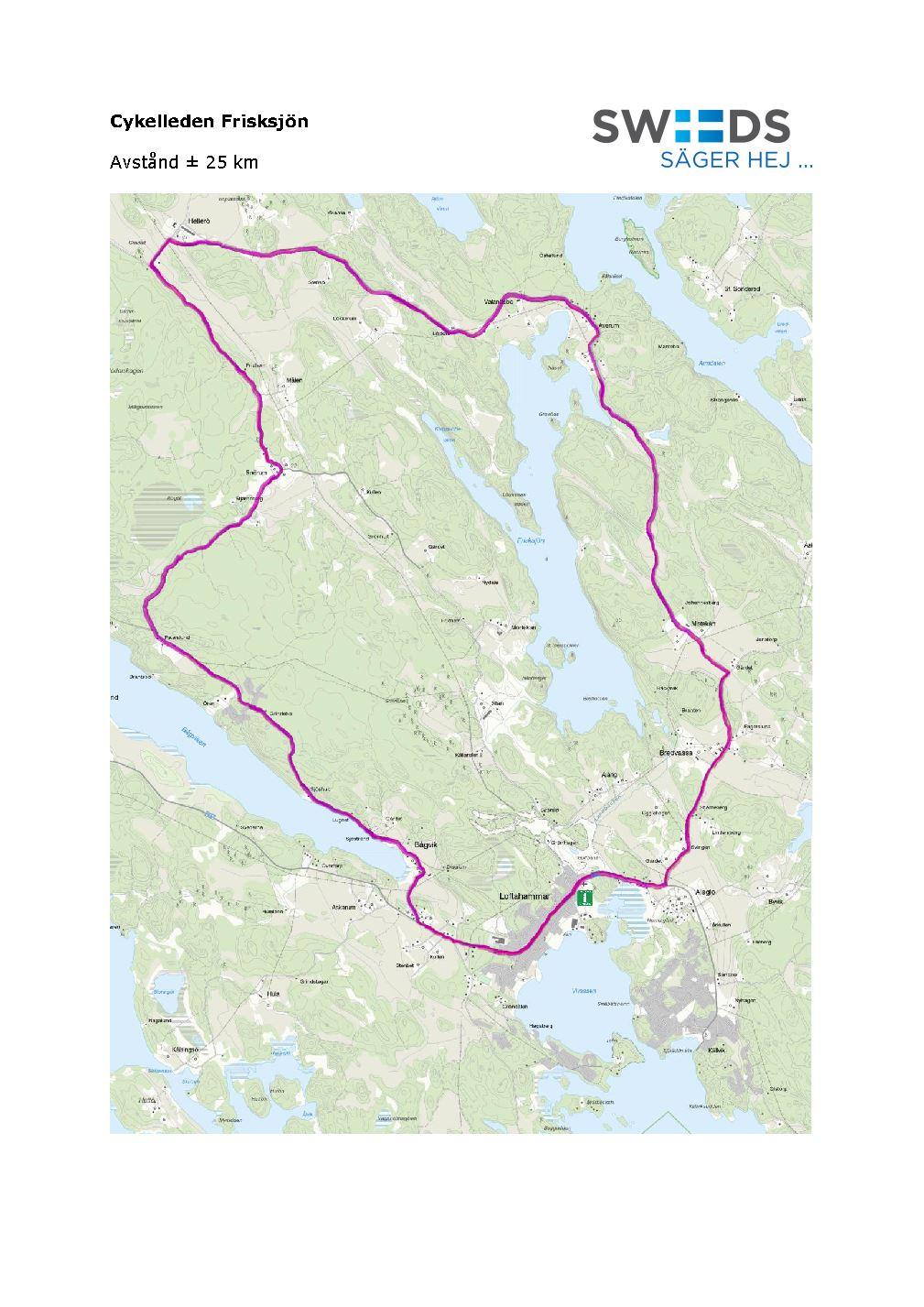 Bicycle trail in Loftahammar