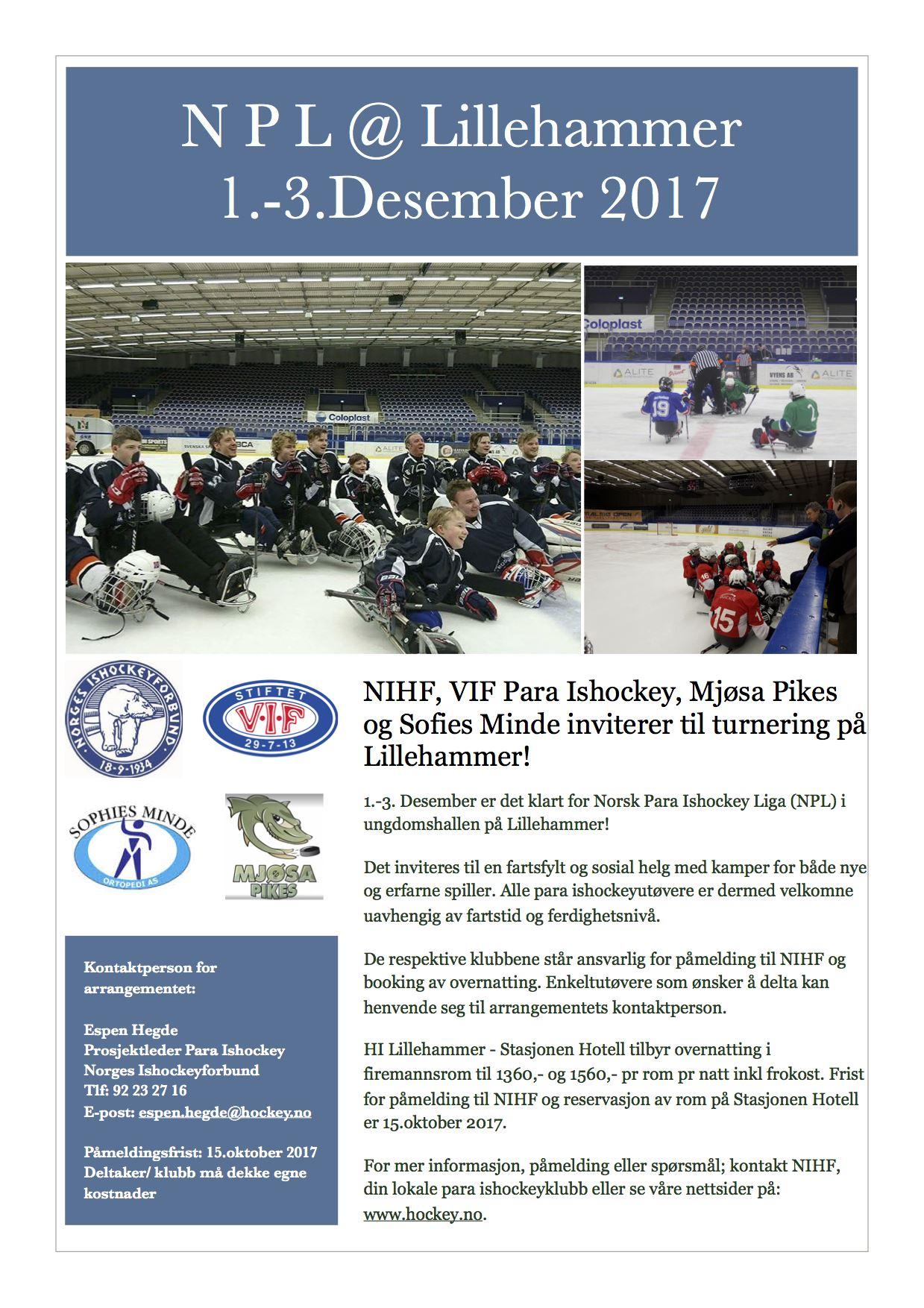 Kjelkehockeyhelg på Lillehammer