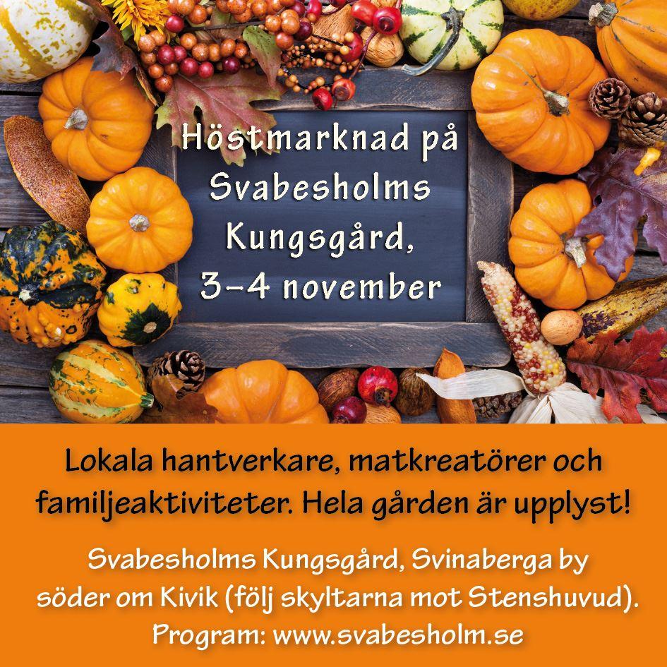 Höstmarknad på Svabesholms kungsgård