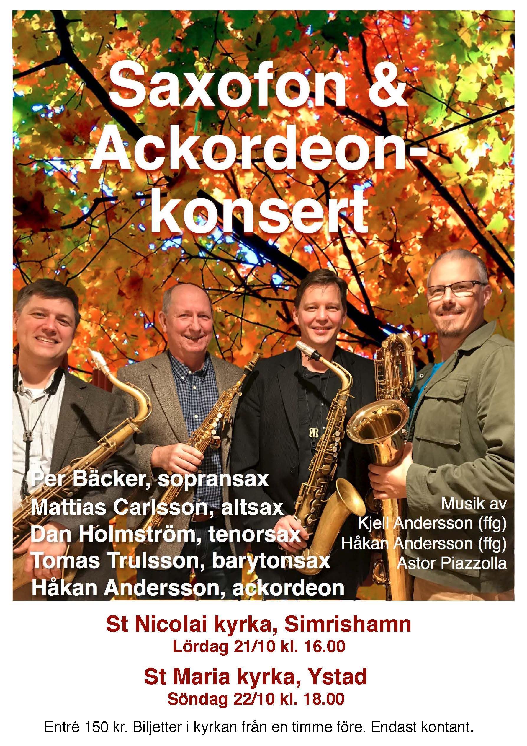 Saxofonkonsert med uruppföranden