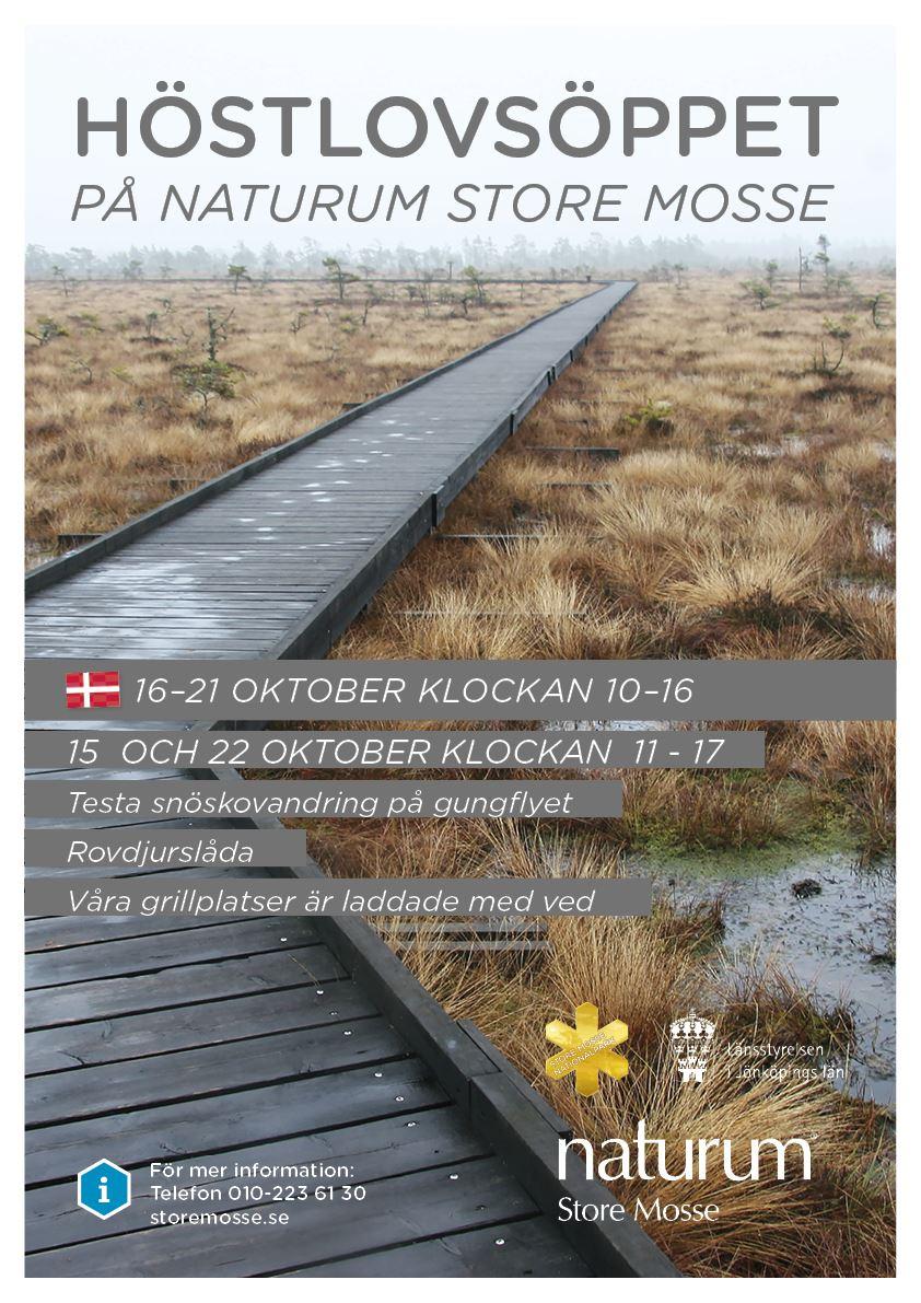 Danskt höstlov på Store Mosse vecka 42