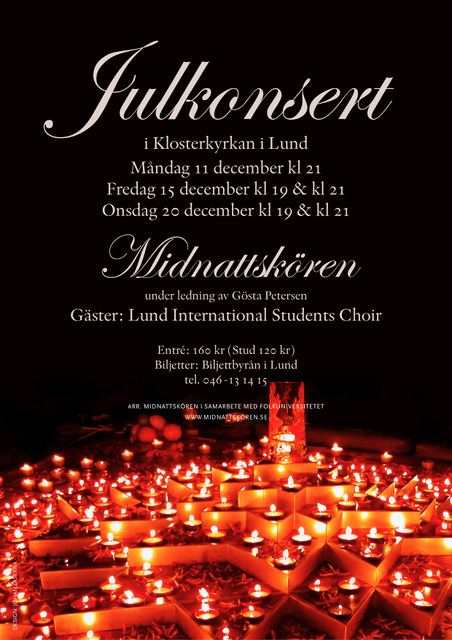 Christmas concert with Midnattskören