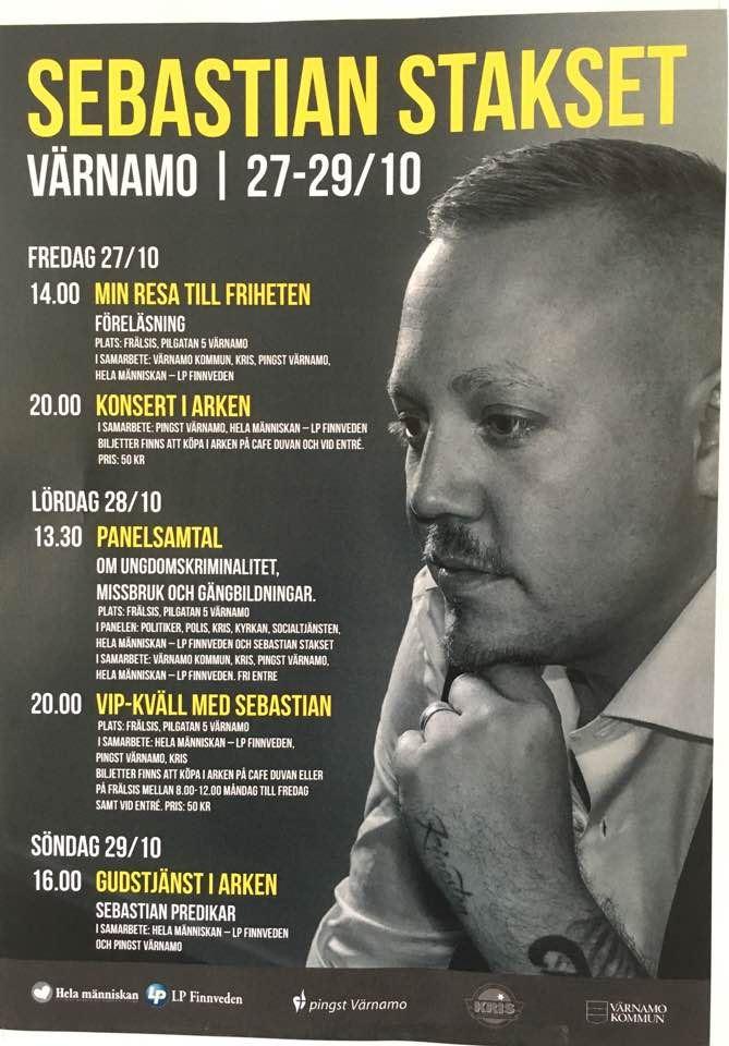 Sebastian Stakset kommer till Värnamo