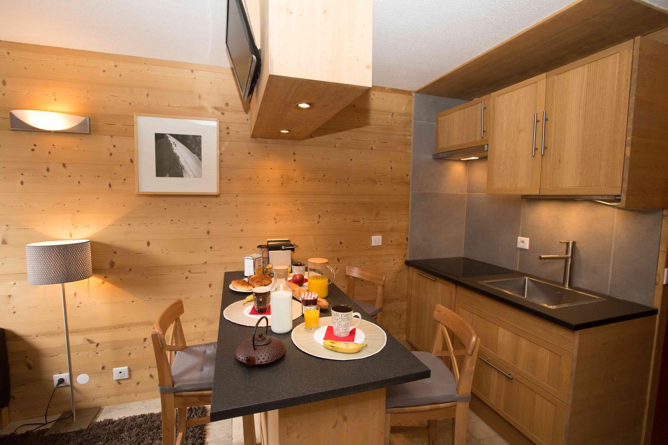 Lauzières 005 > Apartment + Cabin - 2 People -3 Gold Snowflakes (Ma Clé IMMO)