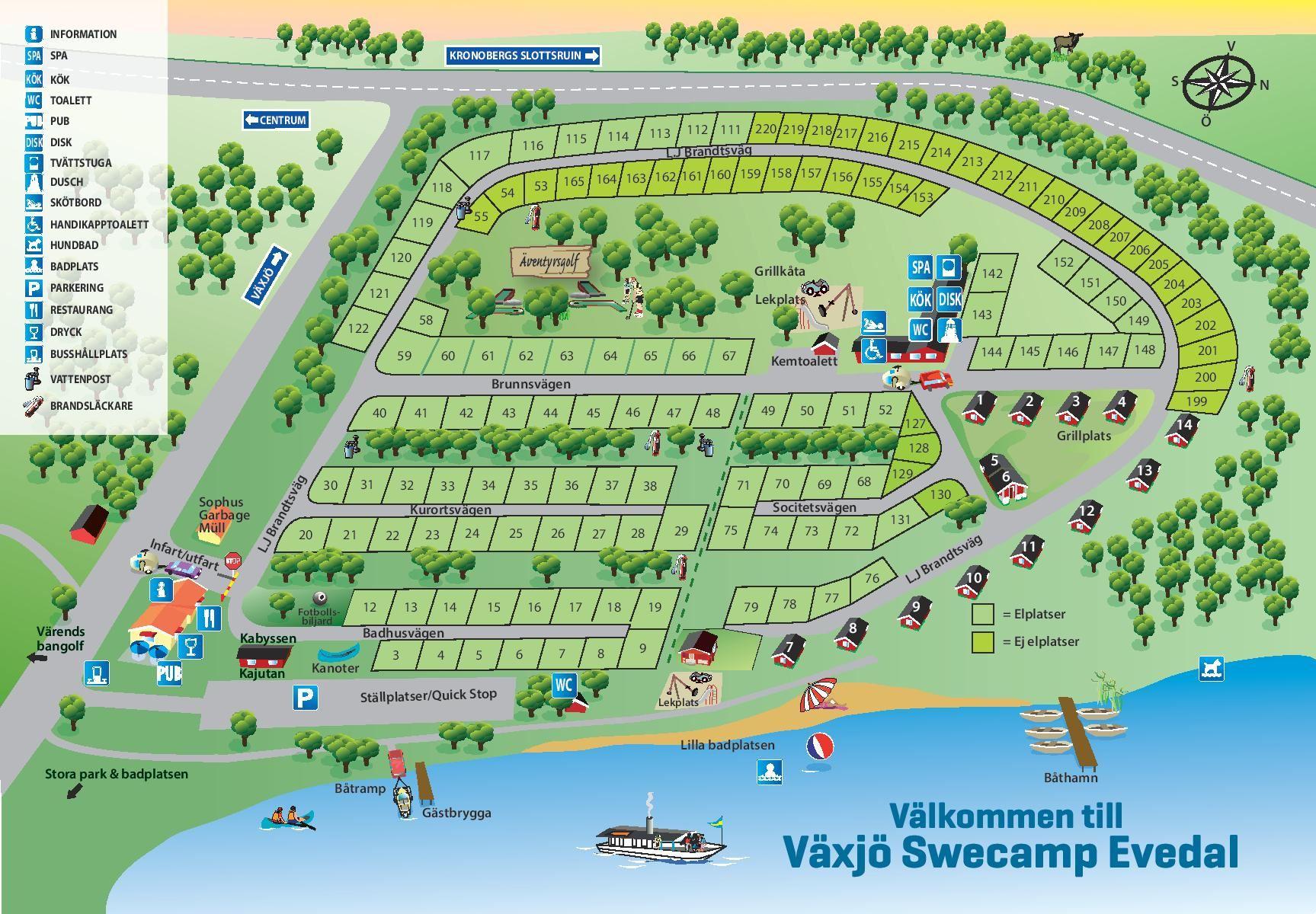 Växjö Swecamp Evedal/Stugor