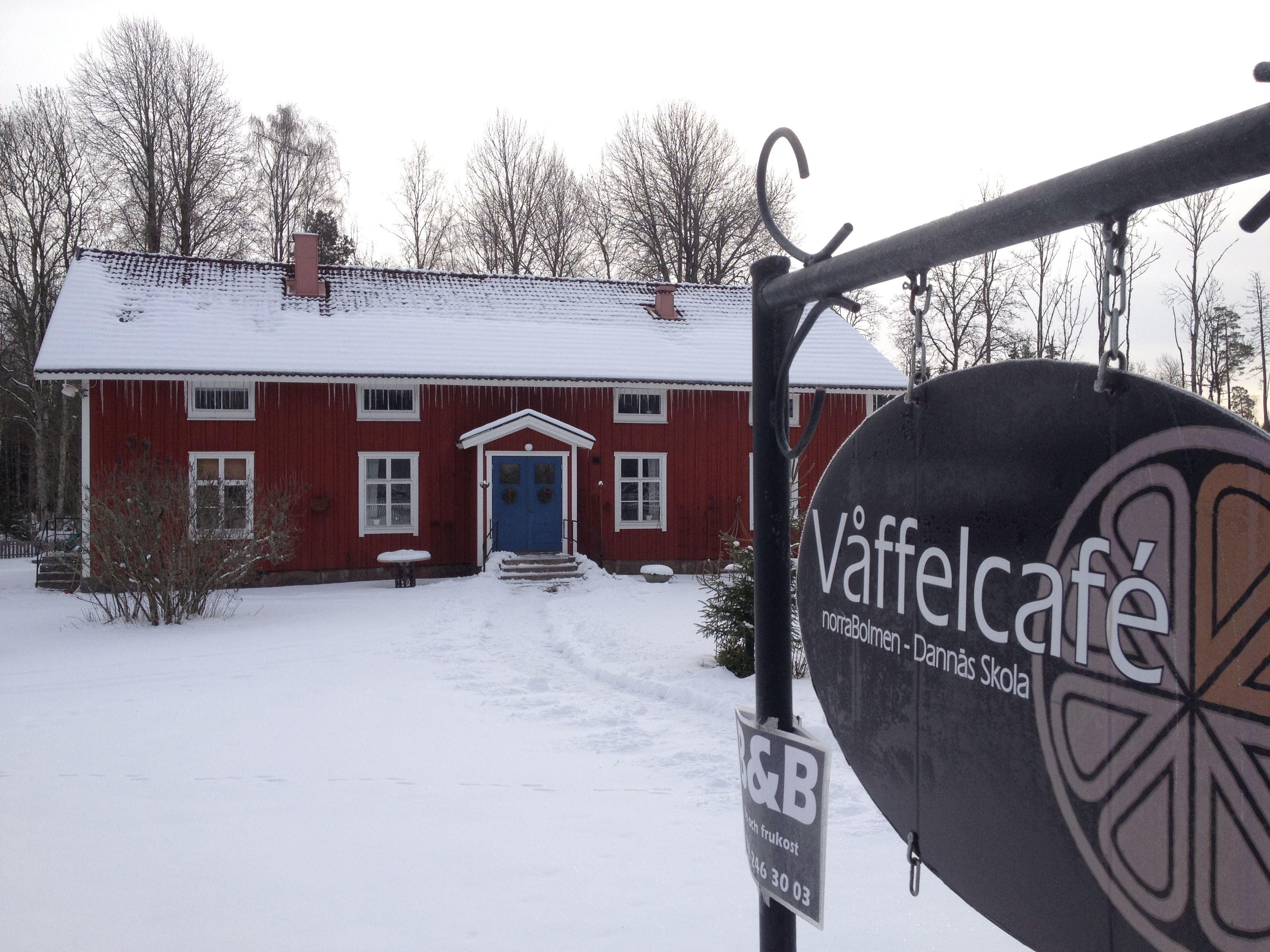 Julmarknad på Dannäs våffelcafé