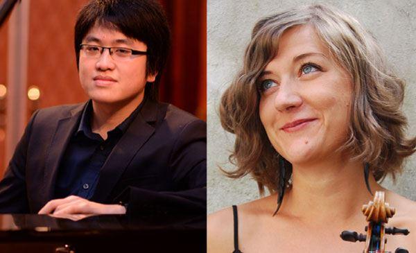 Saana Kähkönen, violin; Duc Ahn Luu, piano