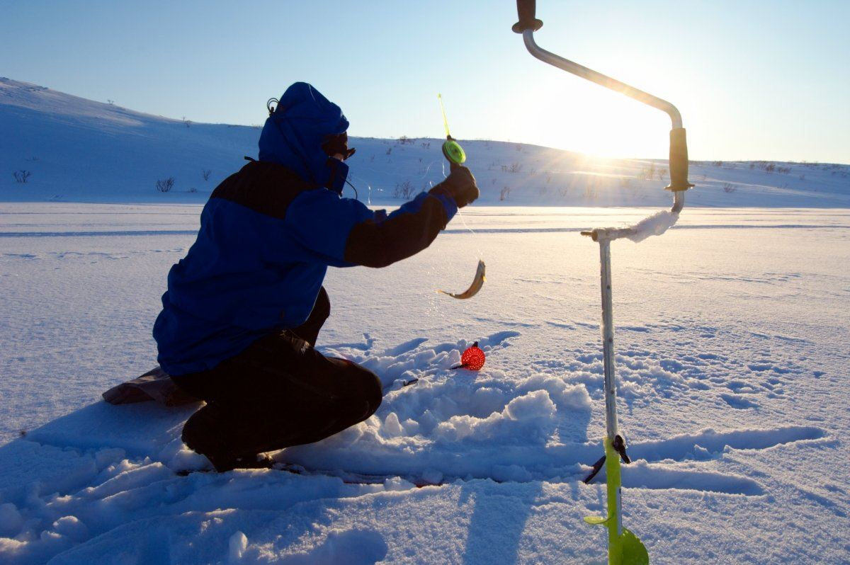 Icefishing on the fjord in Lyngen - Lyngen havfiske & tursenter
