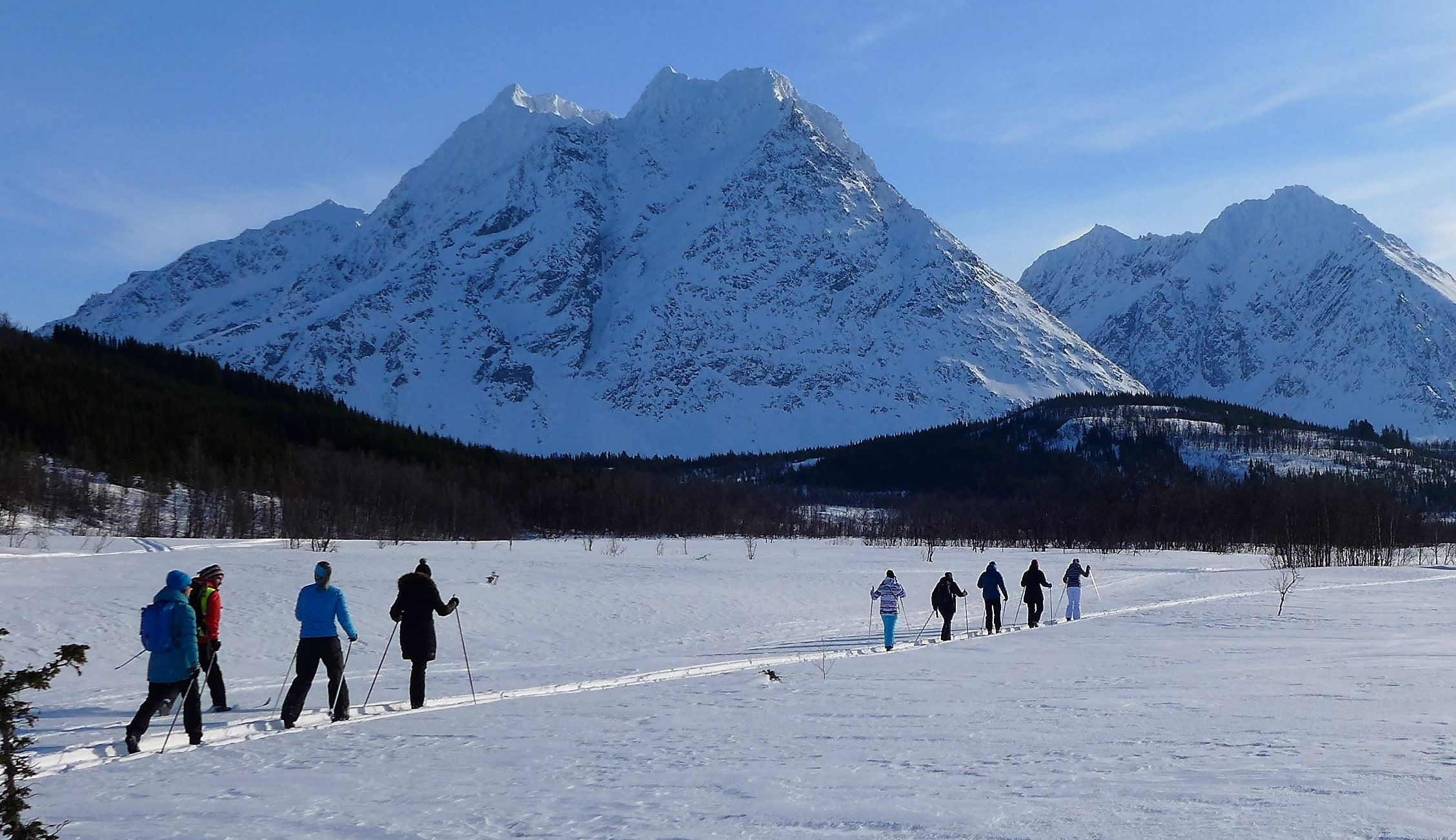 Cross country skiing in Lyngen - XLyngen