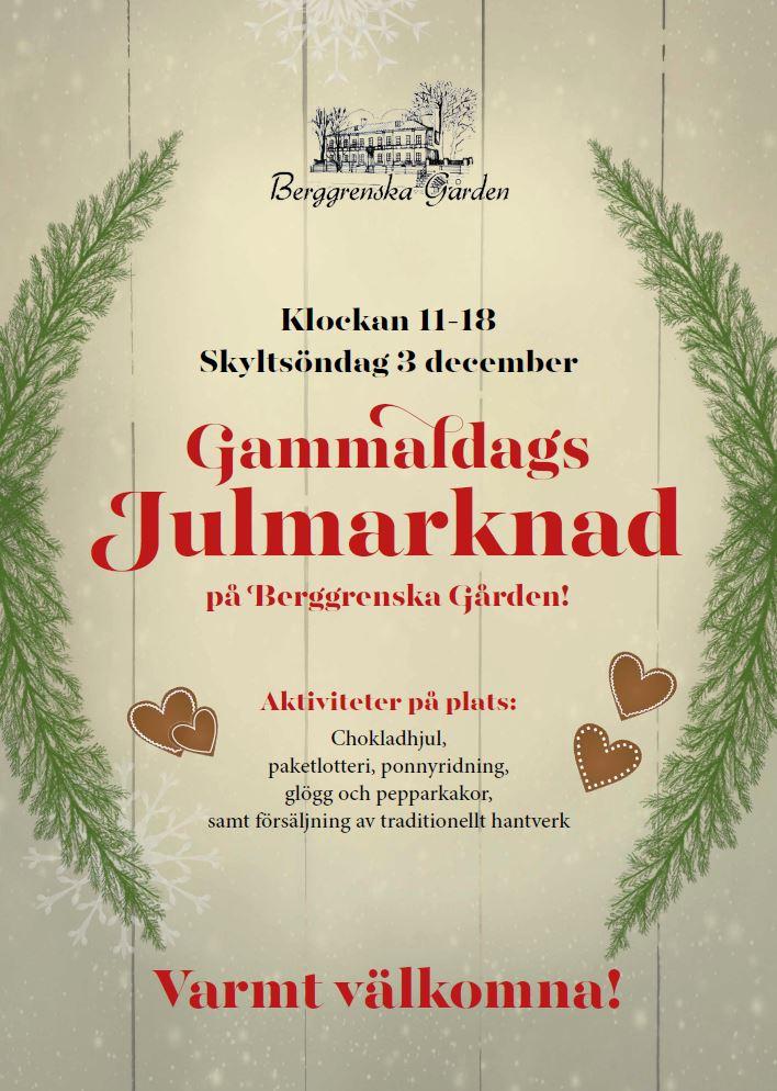 Gammaldags julmarknad på Berggrenska Gården