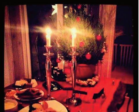 Julbord på Tivars